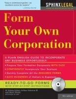 Form Your Own Corporation