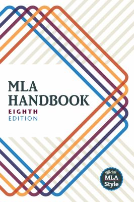 MLA Handbook Eighth Edition Cover